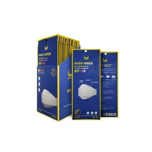KF94 마스크 100%국산자재 국내생산 패스오버 마스크 KF94 미세먼지 50매 장당 398원