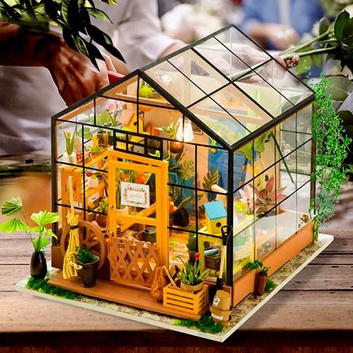 한글 설명서 로보타임 DIY 미니어쳐 하우스 DG104 CATHYs FLOWER HOUSE 홈 가드닝