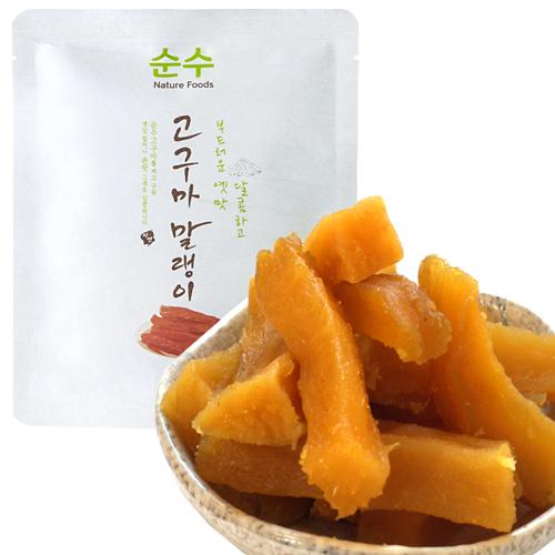 해남달콤한자연식품 순수고구마말랭이60g-10봉 오픈기념특가대용량, 10봉