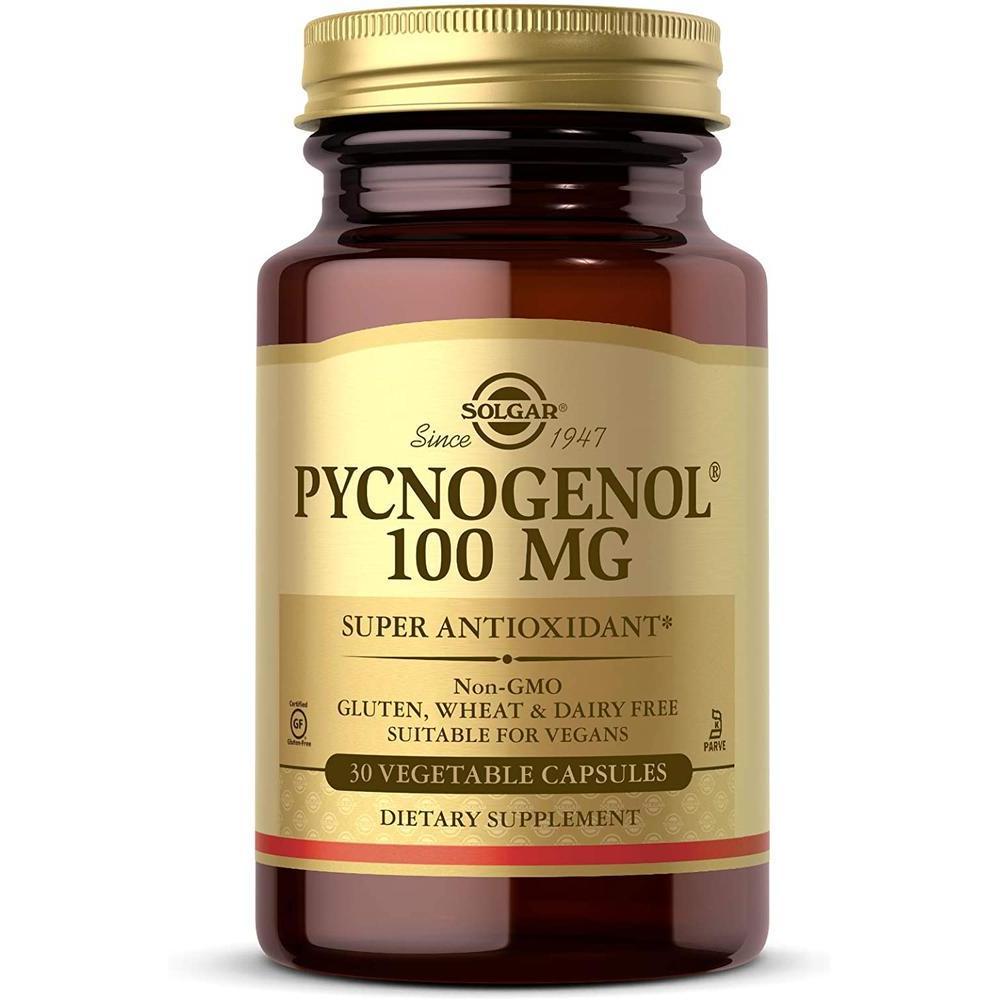 [직구 피크노제놀] Solgar – Pycnogenol 100 mg 30 Vegetable Capsules, 1set, 1set