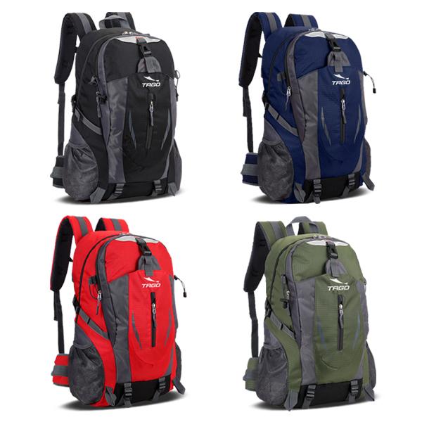 타고 프리미엄 등산배낭 아웃도어 방수 35리터 하이킹 여행가방 멀티백팩 가벼운등산가방, 블랙