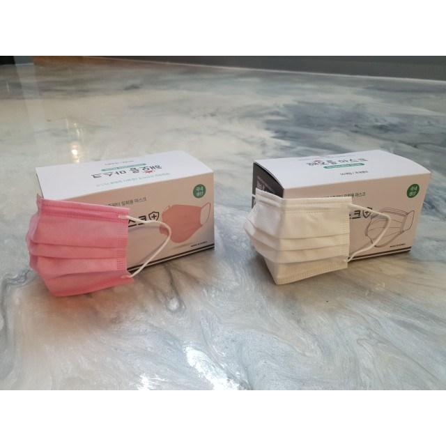 [식약처허가] 국산 KF-AD 해오름 비말마스크 50매 비말차단 MB필터 의약외품 덴탈 일회용, 흰색대형50매