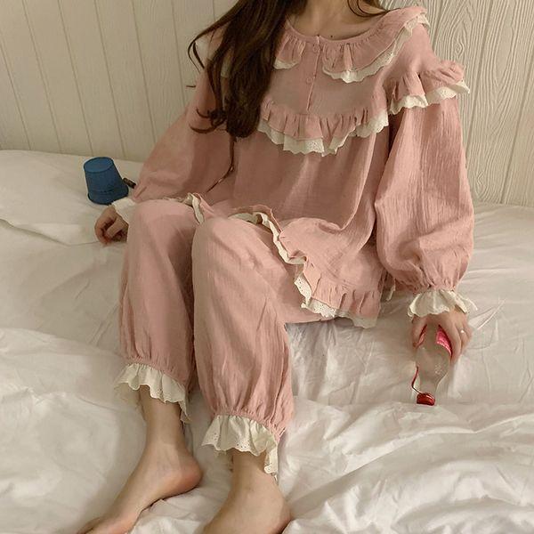 여성 귀여운 패션 잠옷 세트 PJH