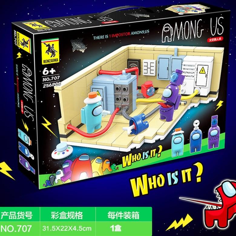 어몽어스 레고캐릭터 피규어 블록 amongus 레고호환 선물 장난감, [전력실] 늑대 살인 장면 버전 3인방 (예매)