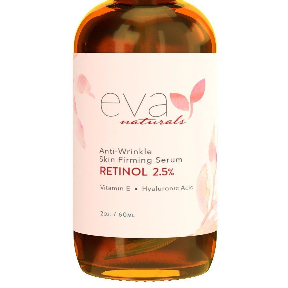 Eva Naturals Nautrals Retinol 2.5% 에바 네츄럴 레티놀 스킨 퍼밍 세럼 2oz(60ml), 1개