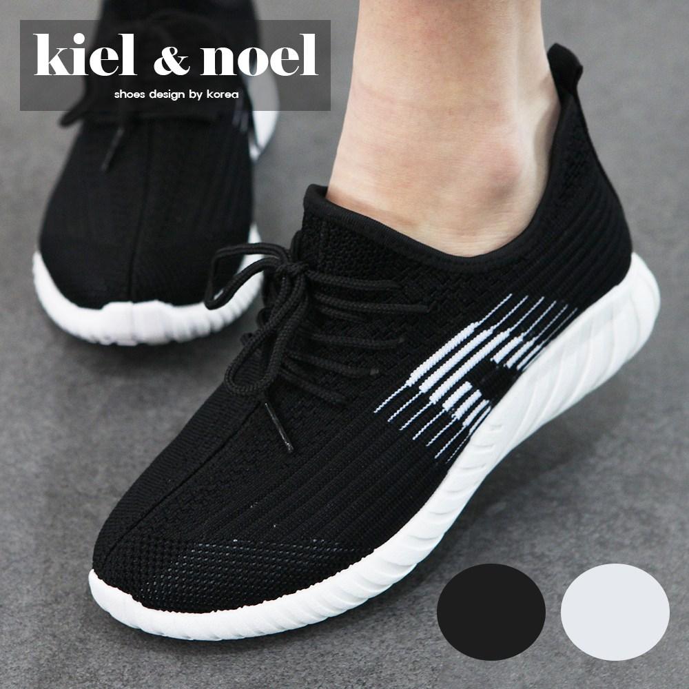 키엘노엘 남녀공용 초경량 니트 운동화 런닝화 조깅화 헬스 신발 D29D