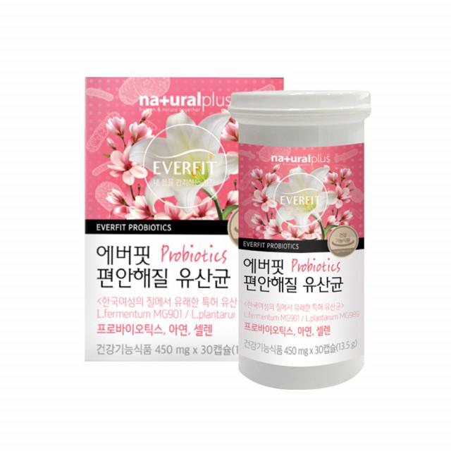 편안해질 유산균 신바이오틱스 프로 프리바이오틱스 플란타룸 MG989 퍼멘텀 뚱보균 갱년기 여성유산균 아연 셀렌 식물성캡슐 효능