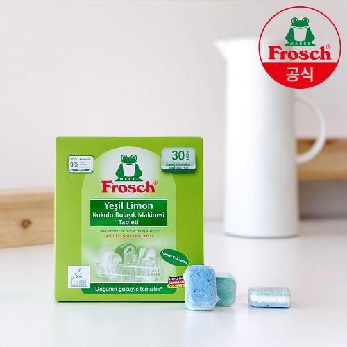 프로쉬 [프로쉬] 독일 친환경 식기세척기세제 그린레몬 600g 30개입, 단품없음