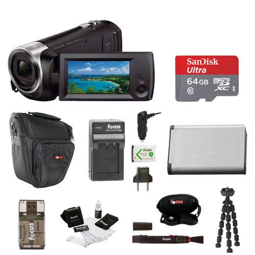 Sony Sony HDR-CX405 Handycam Camcorder (Black) + 64GB microSD Card + C, 상세내용참조