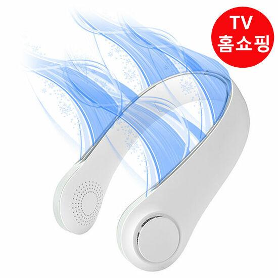 에어서핑 목에착 선풍기 날개없는 휴대용 미니 목걸이형 선풍기 캠핑용 USB 선풍기, 화이트+화이트-6-5852700196