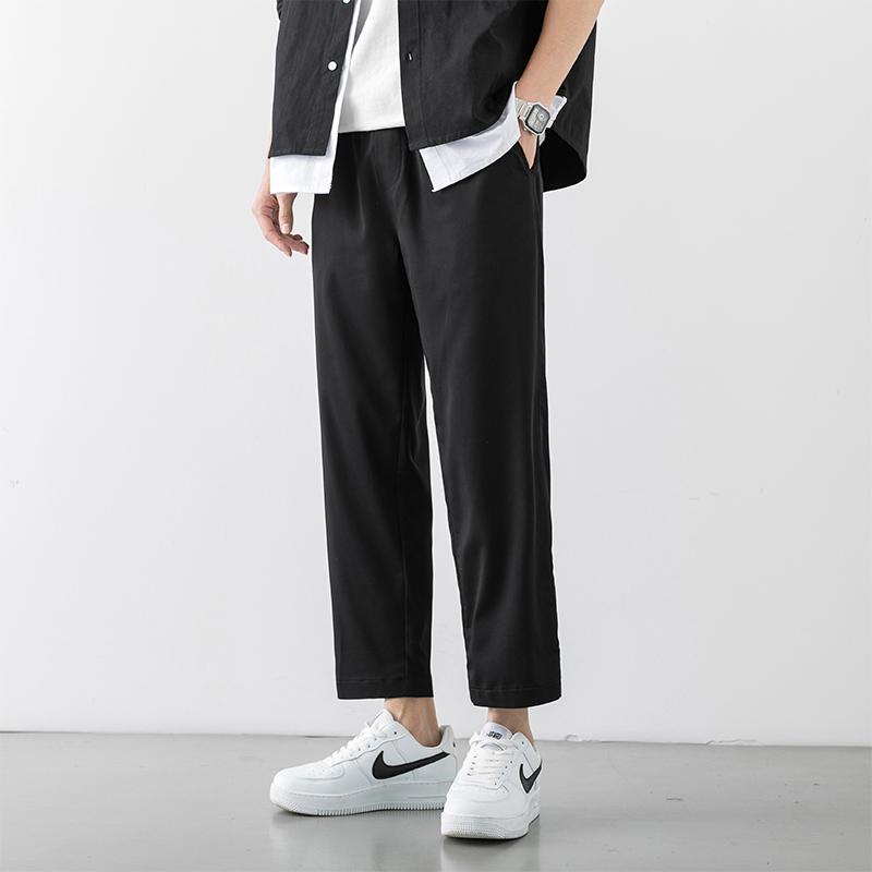 남자작업복바지 캐쥬얼바지 남성여름옷 얇은타입 작엄 색넓이 코디하기쉬운 여름 비스코스 남성 긴바지 일본스타일