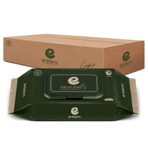 앙블랑 카키 라이트 아기물티슈 캡형, 32매, 30팩