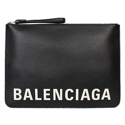 [Balenciaga][팹스타일] 20FW 발렌시아가 애브리데이 로고 레더 스트랩 클러치 (블랙) 630626 1IZKM 1090