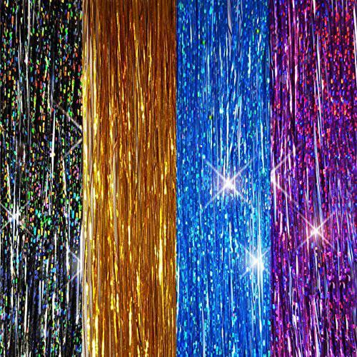 40 Hair Tinsel 400 Strands (Sparkling Stellar Midnight Black /7580561, 상세내용참조, 상세내용참조