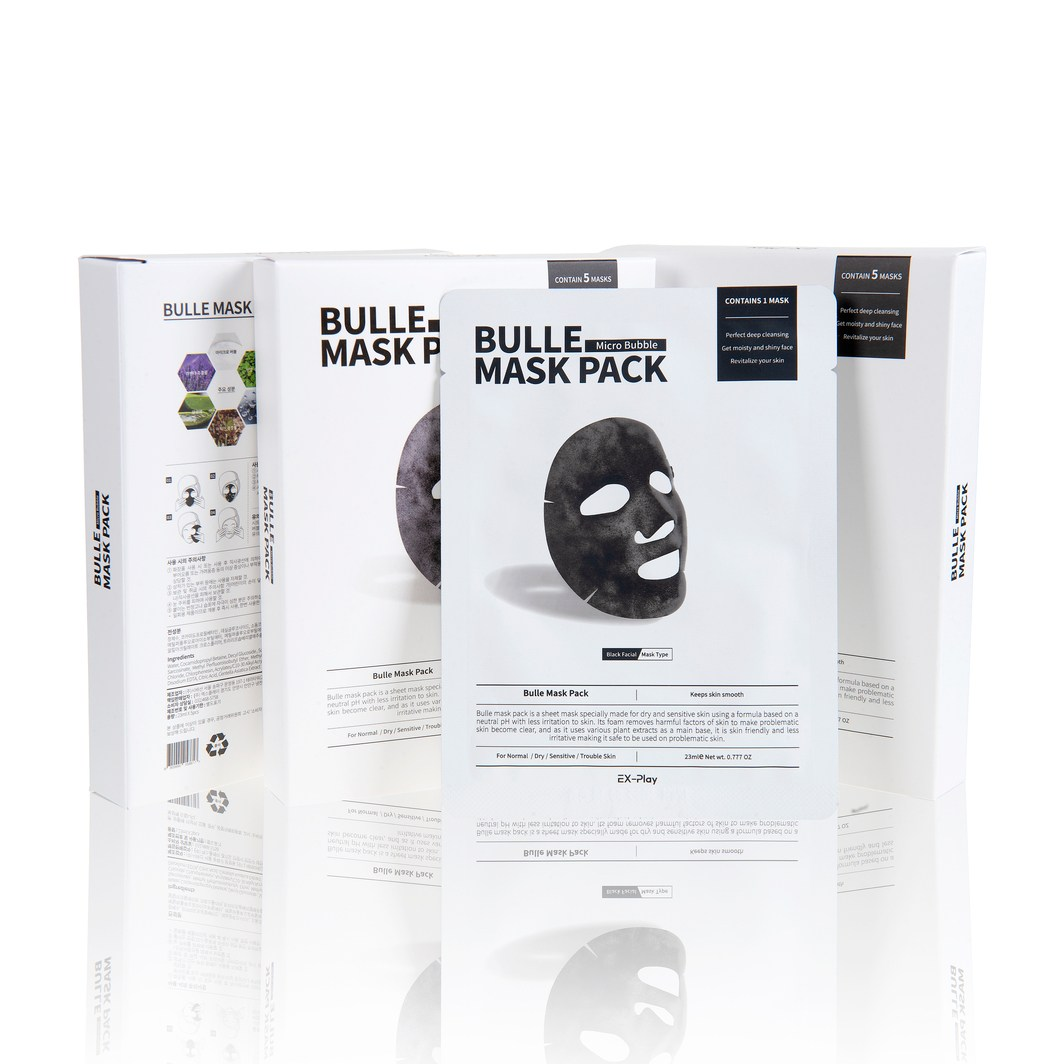 EX-Play Bulle Mask Pack 뷸레 마스크팩, 5개입, 1개