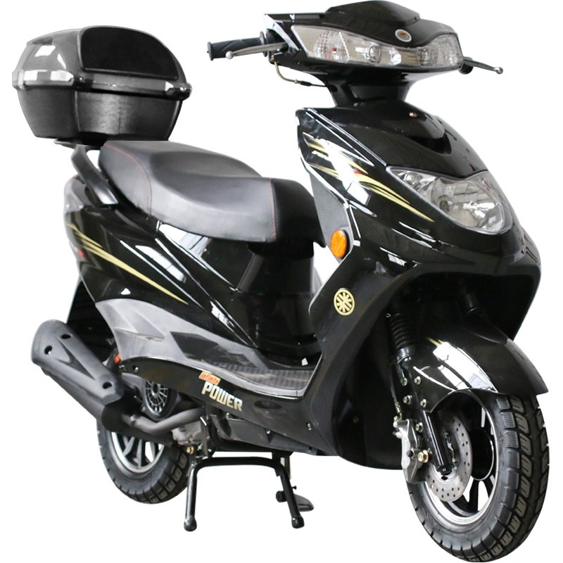 전기 스쿠터 오토바이 2인 용 승 차 보조금 Xunying 125cc WISP 량 수정, 테일 박스가있는 블랙 표준