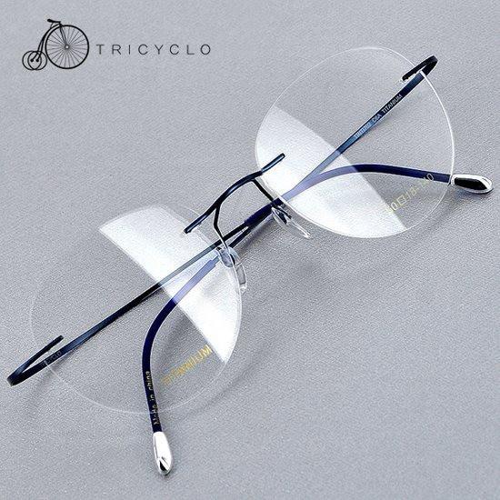 트리시클로 초경량 티타늄 안경테 TLT16017-C6A 50
