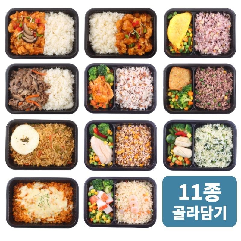 광화문도시락 맛있는 저칼로리 식단관리 도시락 6팩 11종 골라담기, 5. 단호박영양밥&닭가슴살슬라이스샐러드 6팩