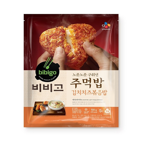 씨제이 비비고 주먹밥 김치치즈 볶음밥 500g, 아이스팩 포장, 단일상품