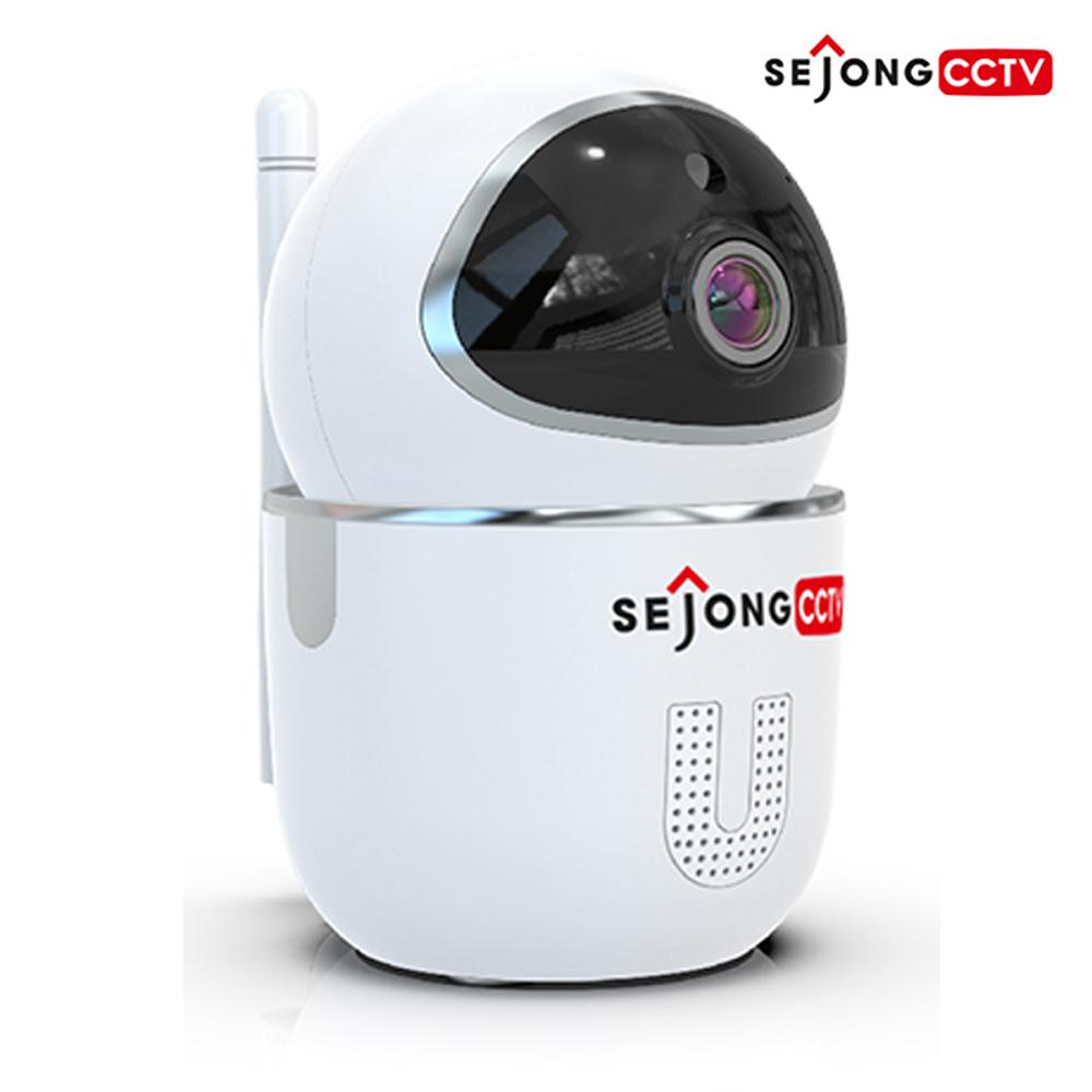 세종CCTV 지킴이 2MP 무선 Wi-Fi 실내 적외선 회전형 IP카메라 홈캠 1080P 아기모니터, 세종CCTV 홈캠 지킴이