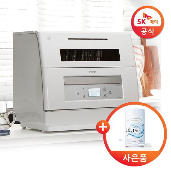 [추천]  SK매직 자동문열림 식기세척기 DWA-1811P 고온살균세척 건조, 단품 할인!!