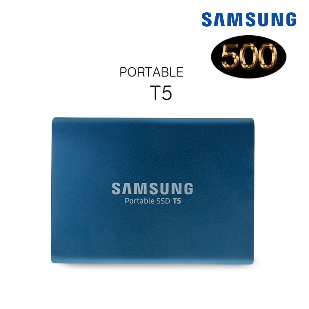 삼성전자 포터블 SSD T5 외장SSD, 블랙, 2TB (POP 322677548)