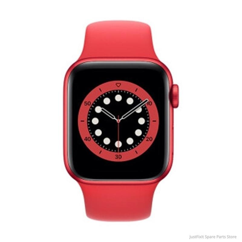 새로운 Apple Watch Series 6 GPS Cellular 40MM 44MM 알루미늄 케이스 5 색 스포츠 밴드 원격 Smartwatch LTE iwatch 6, 레드 케이스 레드 밴드, 44MM GPS 셀룰러