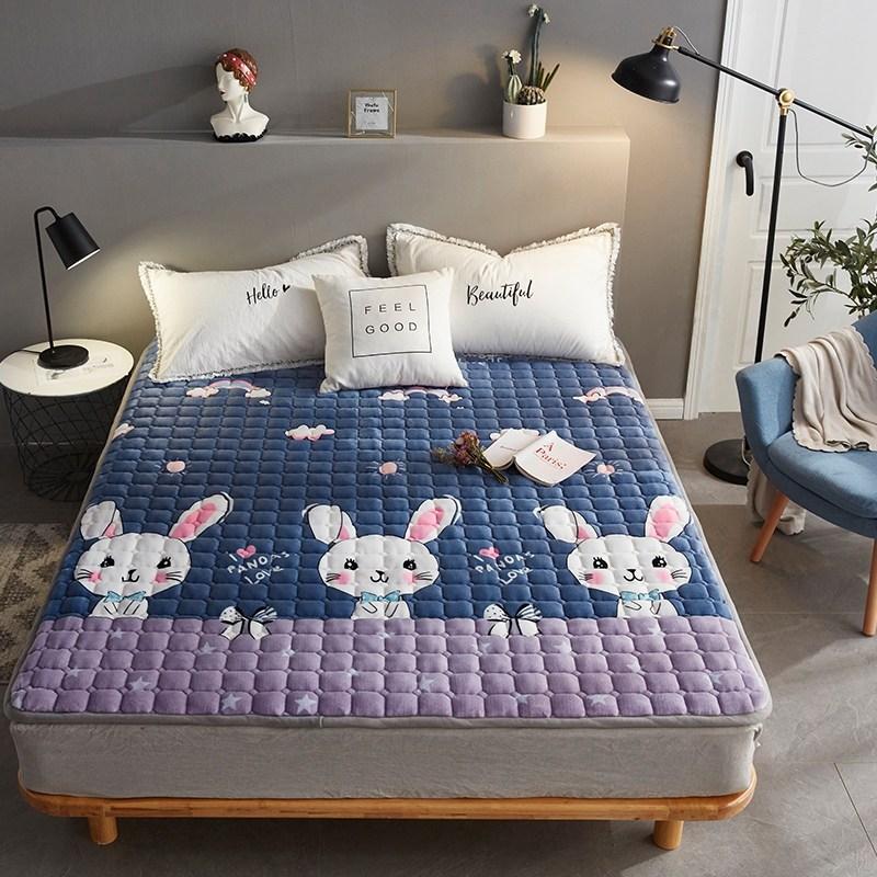 토퍼 템퍼 매트리스 침구 기타 겨울 기모 쿠션 학생 기숙사 싱글 담요 침대, AI_1.2 X 2m