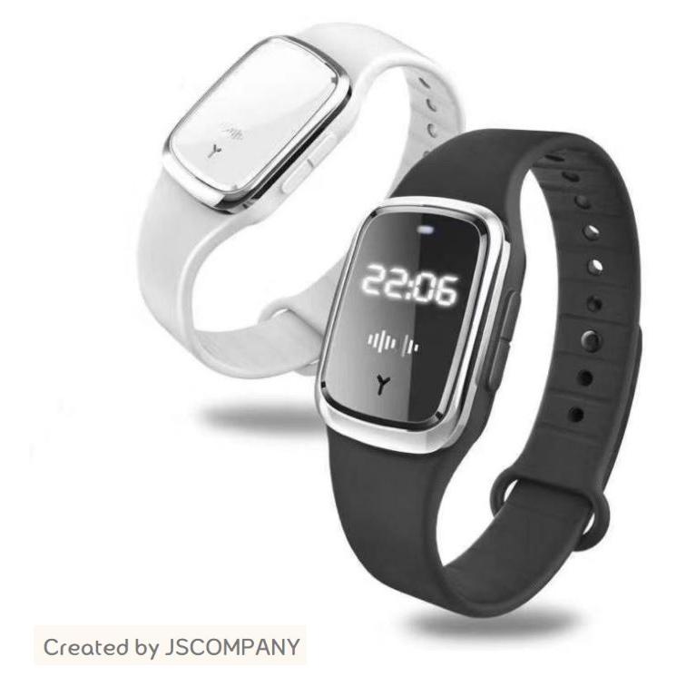 JS 캠핑 낚시 등산 휴대용 인체 무해한 초음파 모기 퇴치기 손목시계, 화이트 (POP 5429825711)