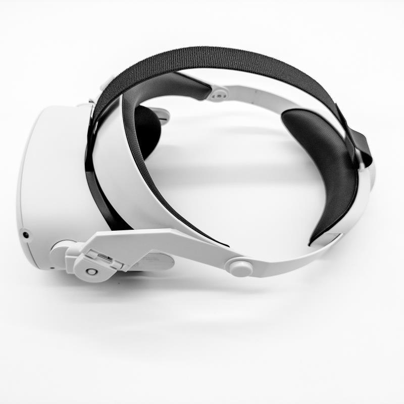 VR 오큘러스 퀘스트2 조정 가능한 GOMRVR Halo Strap 지원력을 높이고 편안함을 향상시킵니다, white