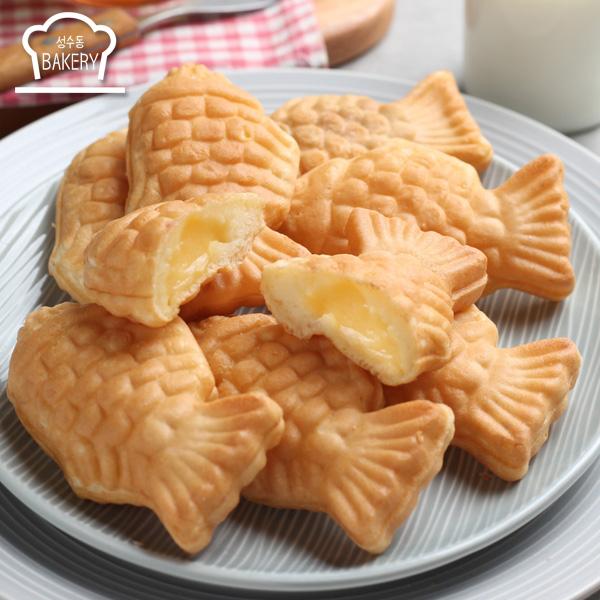 우리밀 슈크림 붕어빵 500g(50g x 10개입), 단품