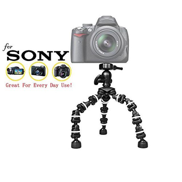 소니 Alpha a7 a7 II a7R a7R II a7s a7S II a3000 a3500 a5000 a5100 a6000 a6300 미러리스 카메라 13 트라이 포드 w / 퀵 릴리스 용 Pro 13 헤비 듀티 플렉시 팟, 본상품선택