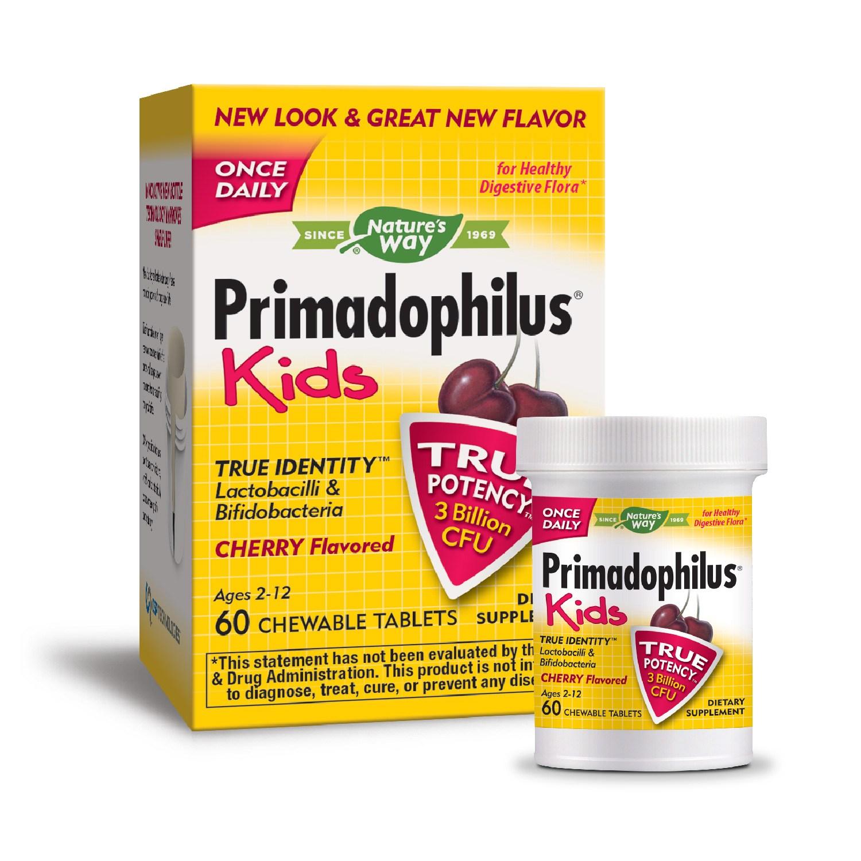네이쳐스웨이 프리마도필러스 유산균 어린이용 츄어블 타블렛, 60개입, 체리 (Cherry)