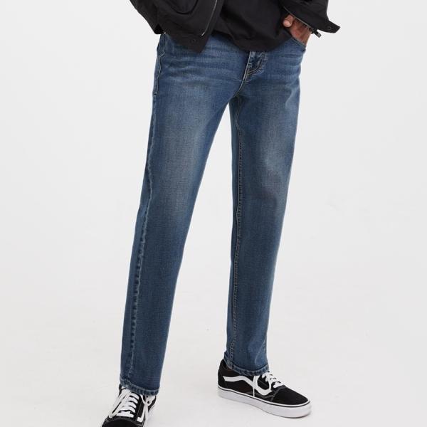어드바이저리 Span Standard Fit Denim Pants - Dark Blue