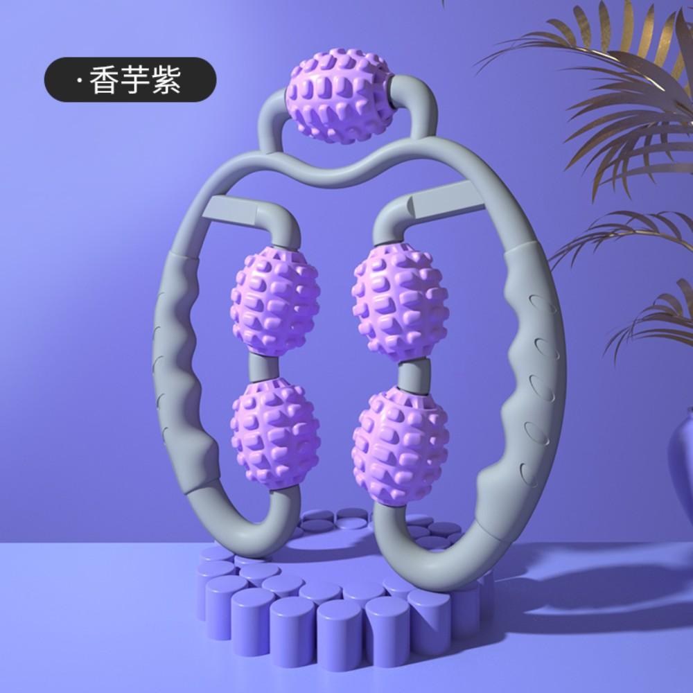 종아리 마사지 롤러 마사지기 하체 허벅지 마사지도구 기계 휴식시간 발 다리 붓기, [업그레이드 버전-타로 퍼플] -5 마사지 휠 -3D 플로팅 포인트 디자인-만능 입체 마사지, 1개