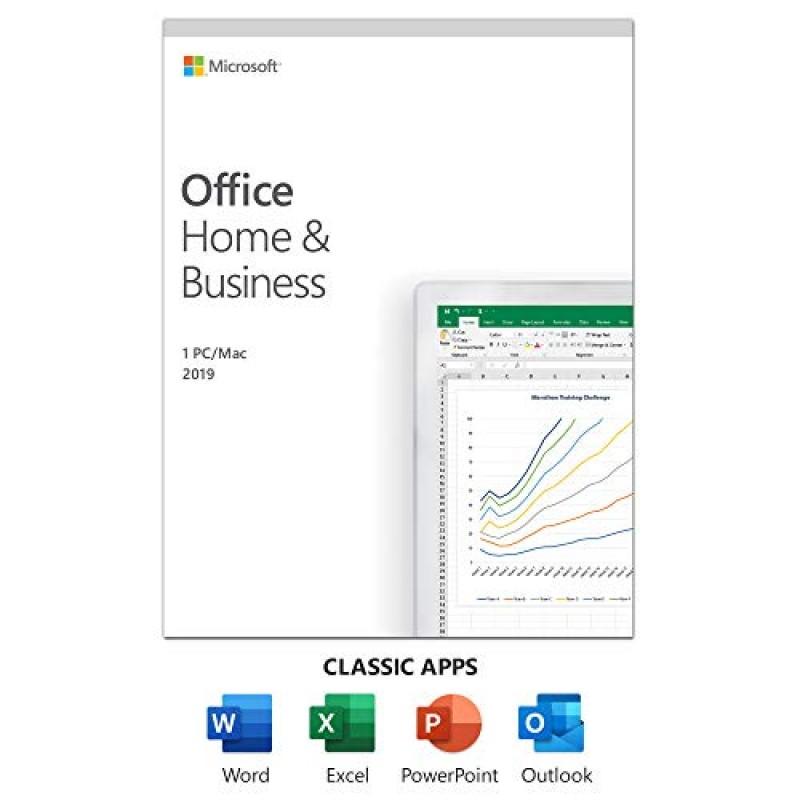Microsoft Office Home and Business 2019 | 일회성 구매 사용자 1 명 | PC / Mac 카드, 1, 단일옵션