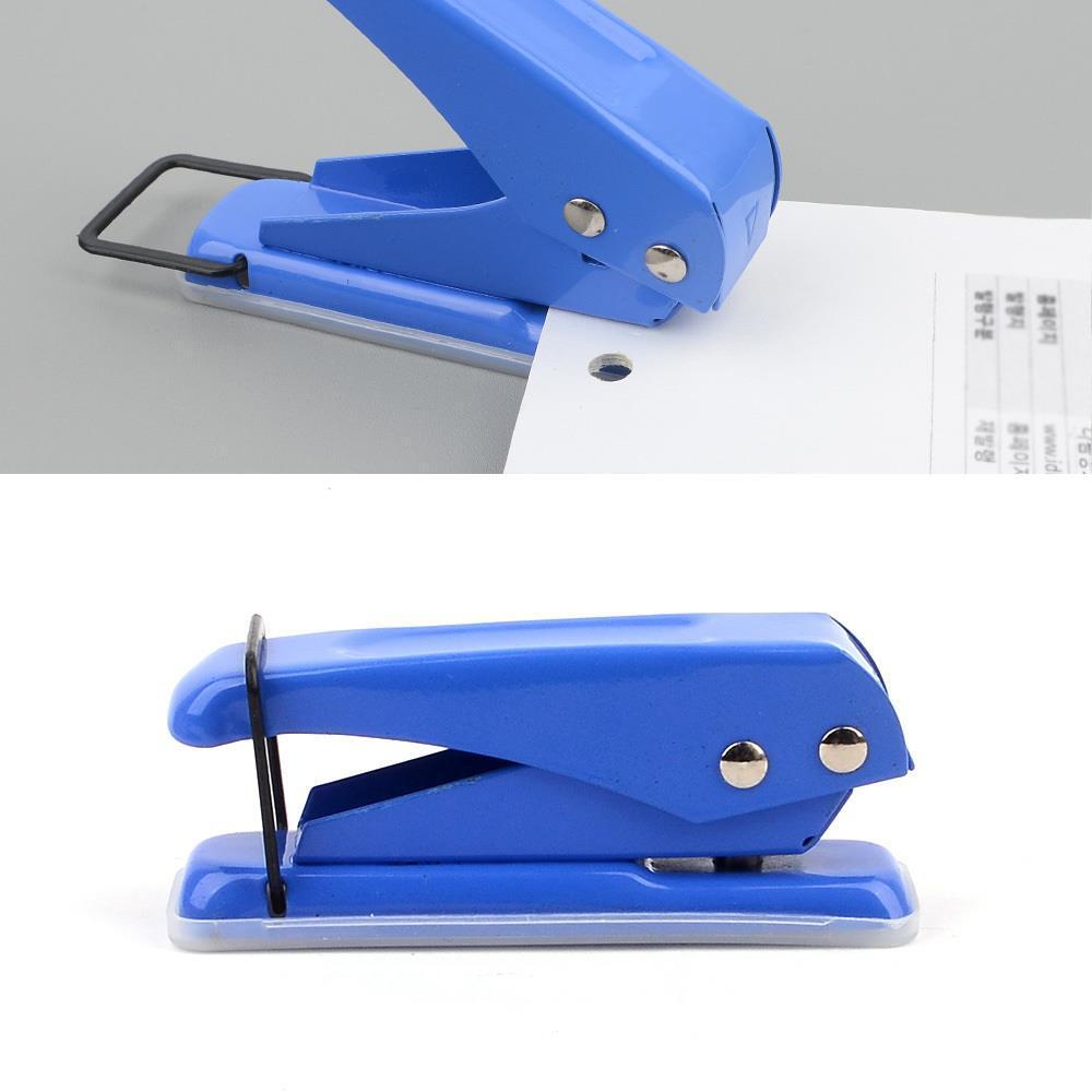 zentrade 학교 사무실 종이 구멍뚫기 미니 펀칭기 종이펀칭기2개 일반펀치
