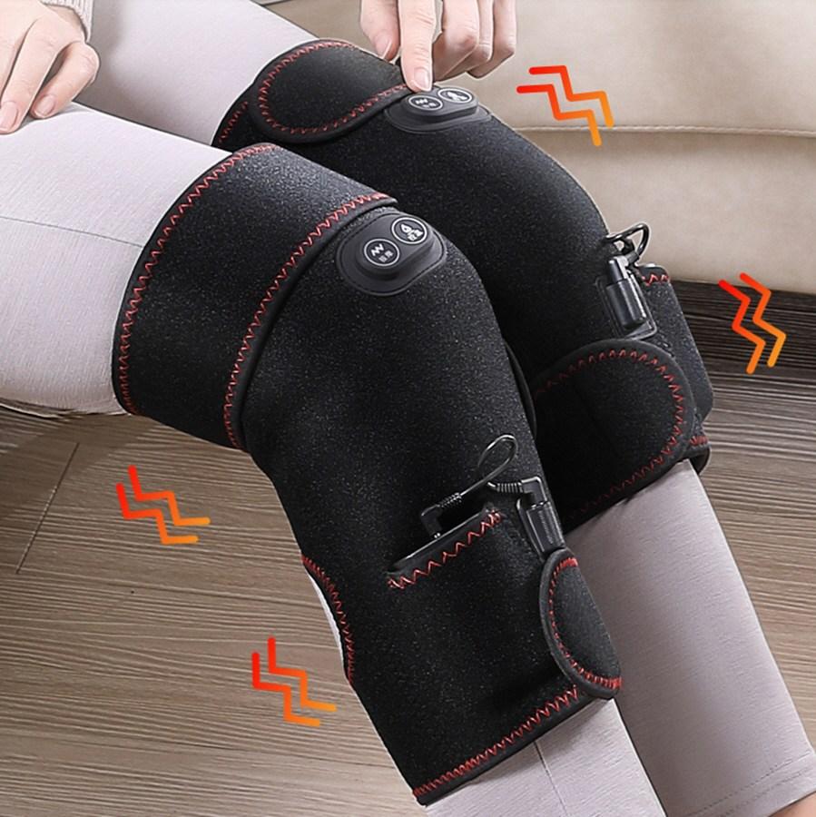 해외 OEM 무릎마사지기 다리찜질기 종아리안마기 물리치료, 블랙 무릎마사지기