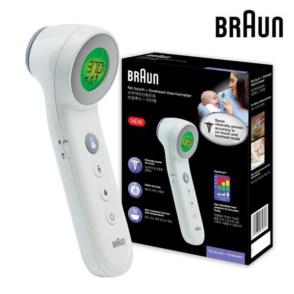 브라운 비접촉 이마형 피부적외선 체온계 BNT400, 단품