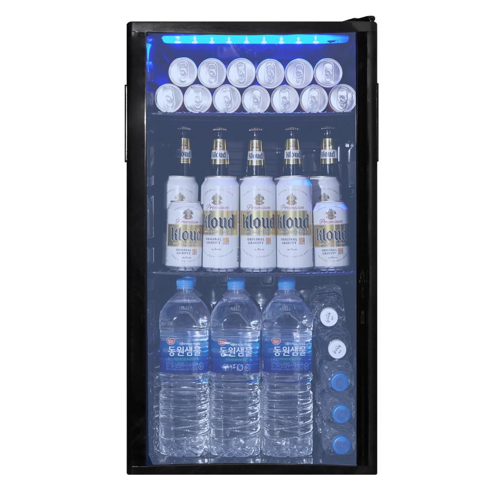 씽씽코리아 음료수냉장고 냉장쇼케이스 소형냉장고 미니냉장고 SD-92 화이트, SD-92(블랙)