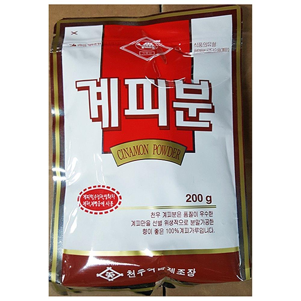 천우 계피가루(천우 200g)X50 시나몬 가루 스틱 나무 효능 베트남 스리랑카 개피 코스트코, 50개