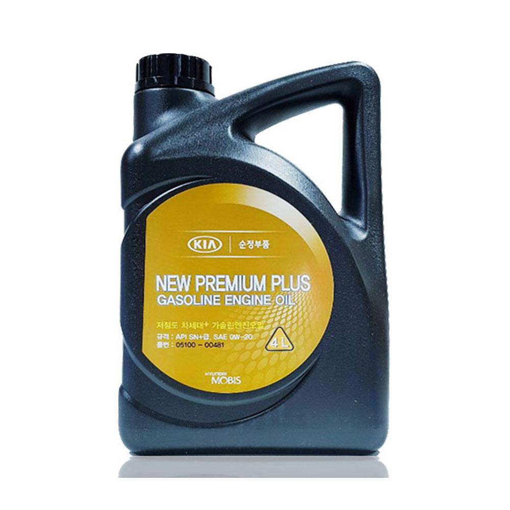 현대모비스 NEW PREMIUM PLUS 가솔린 엔진오일 05100-00481, 1개