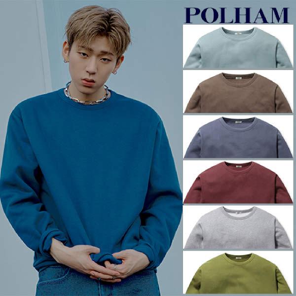 [현대백화점][폴햄] PHA4TR3920 남여공용 베이직 솔리드 플리스 맨투맨 티셔츠