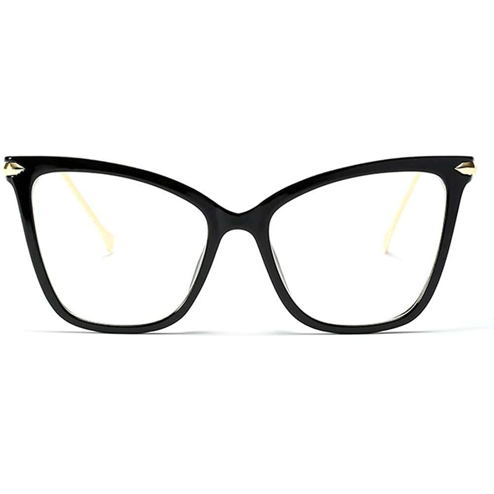 Beison 여자 고양이 눈 투명 프레임 모 선글라스 안경