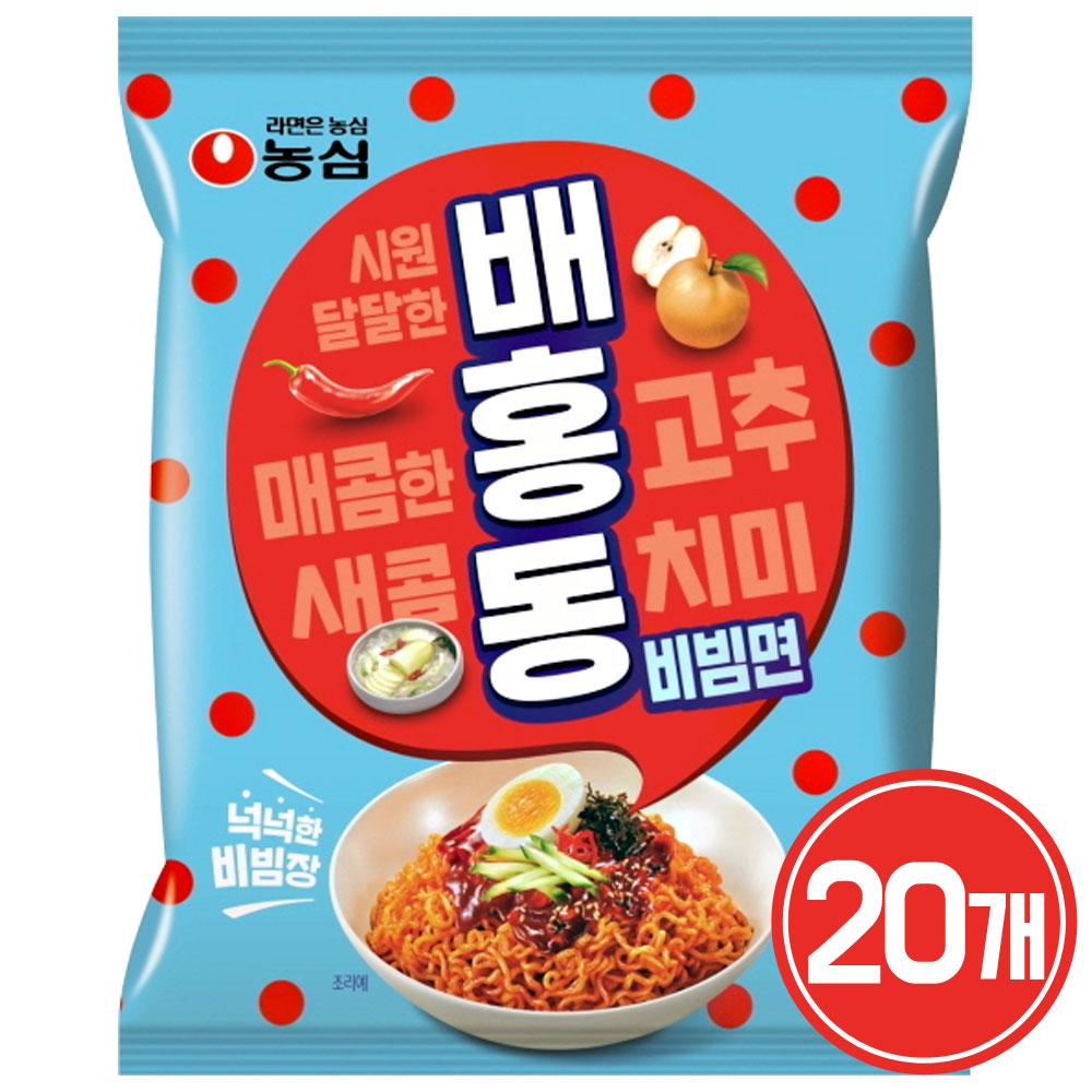 [ 농심 ] 배홍동 비빔면 137g / 비빔면계의 인싸!, 20개