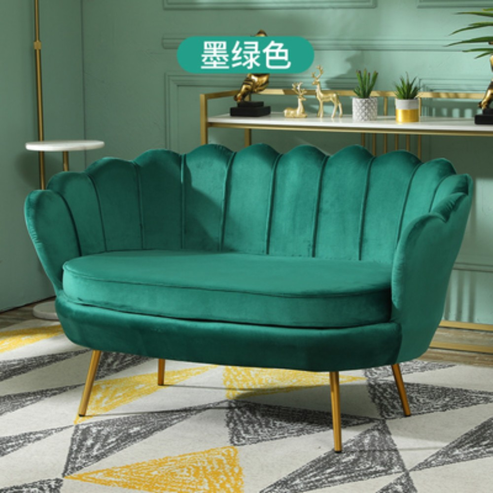 인테리어 거실 카페 업소용 디자인 미용실 미니 쇼파 소파 북유럽 매장 1 2 3 인용, 3인용 180cm + 짙은 녹색