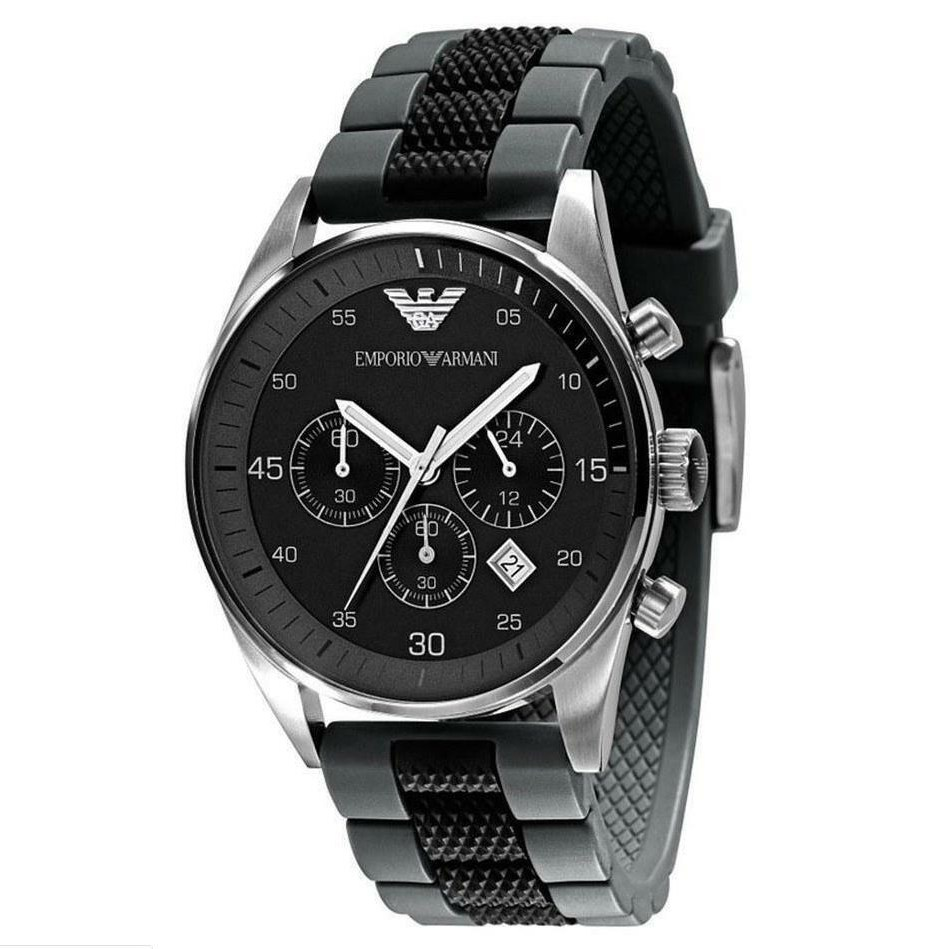 엠포리오 아르마니 영국직배송 알마니AR5866 블랙톤 남자패션 럭셔리 러버 실리콘 손목시계 남성인기시계