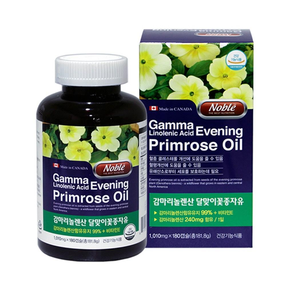 노블 감마리놀렌산 달맞이꽃종자유 GLA 오메가6 HDL 콜레스테롤, 180캡슐, 1010mg