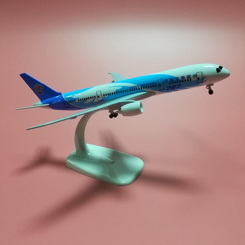 합금 여객기 비행기 완구 남항 B보잉 B747상업과 C919 에어 버스다 A380, 화이트 787 남항 바퀴가 있다