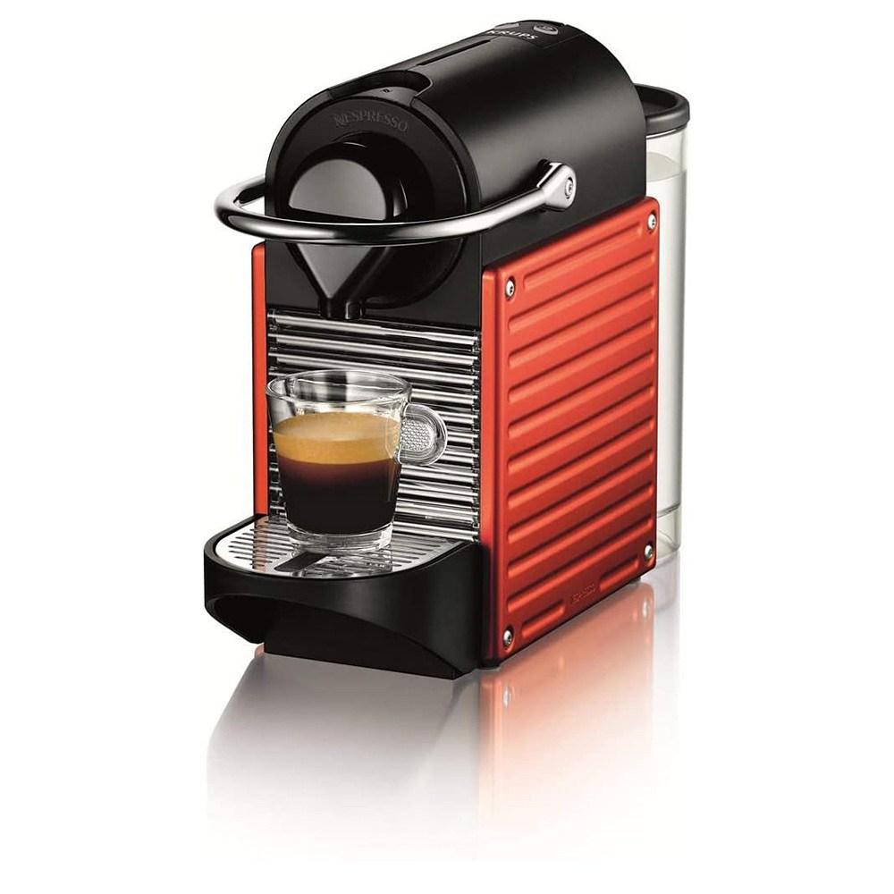 네스프레소 커피머신 픽시 XN304T 타이탄 웰컴 14캡슐 포함, XN3045 레드